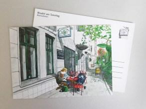 Postkarte des Cafés Mamsellchen