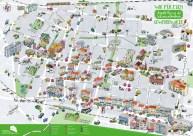 illustierter Stadtplan vom Auguste-Kiez in Berlin-Reinickendorf, Sara Contini-Frank
