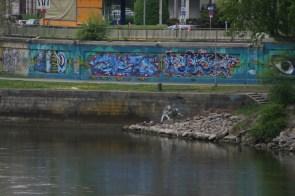 Wien - An der Urania - Mündung Wien-Fluss Donaukanal