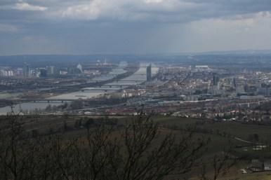 Wien - Donau - Blick von Kahlenberg