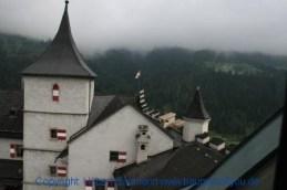 Burg Hohenwerfen Blick vom Wehrturm