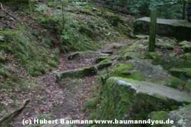 Weg Steinmark Schleiftor zur Karlshoehe Spessart 070