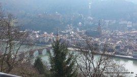 Heidelberg - Blick vom Philosophenweg auf Stadt und Nekar