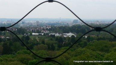 Blick vom Goetheturm Frankfurt Ri Offenbach