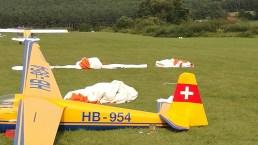 Auf dem Segelflugplatz (Flugsportclub Möwe) in Obernau