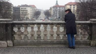 Hubert Baumann am Aussichtspunkt Friedensengel - München -
