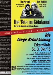 Poster zur Langen Krimi-Lesung
