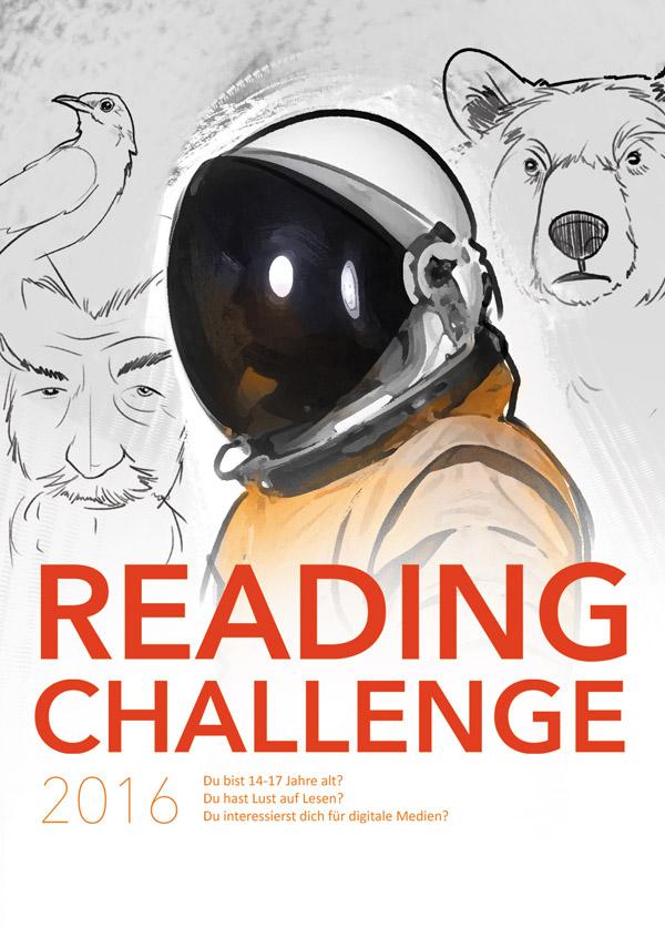 Plakat zur Reading Challenge 2016