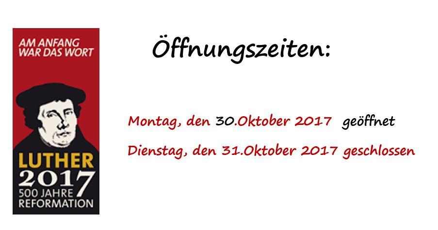 Öffnung Bücherei 30./31.Oktober