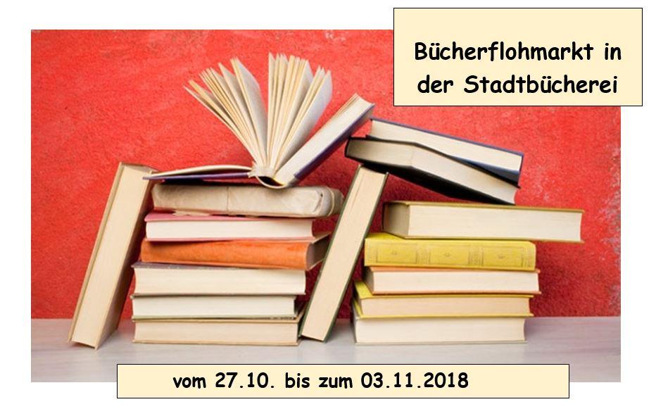 Bücherflohmarkt im Herbst