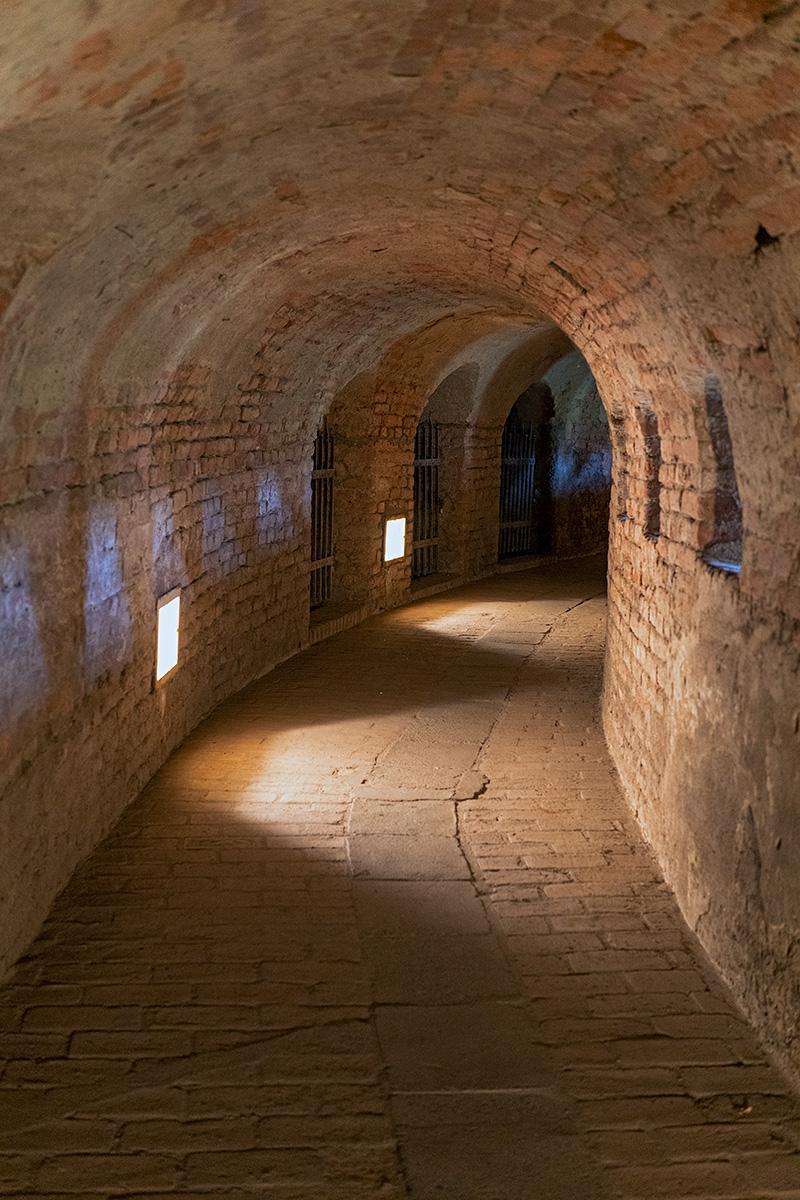 Gang im Verteidigungswall in Terezín