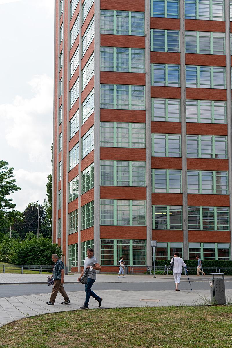 Bata Hochhaus auf dem Bata-Werksgelände in Zlin