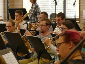 Unsere Musiker bei der Aufnahme