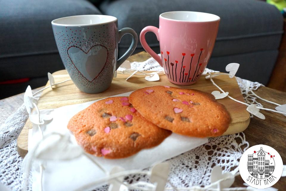 Valentinstag Geschenke Tassen bemalen