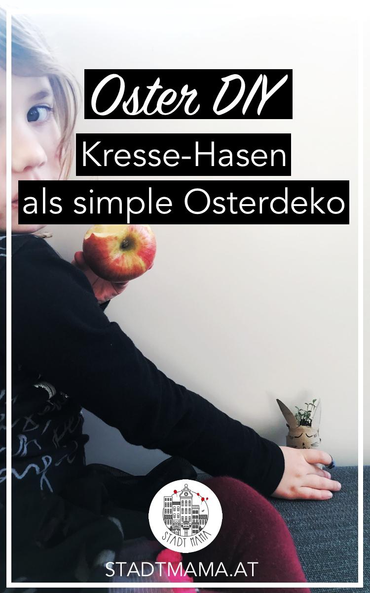 Suchst du nach einer simplen Osterdeko, die du mit den Kindern basteln kannst? Ich zeige euch heute, wie man Kresse-Hasen macht. #stadtmama #mamablog #mamablogger #mamablogger_at #osterdeko #bastelnmitkindern #ostern