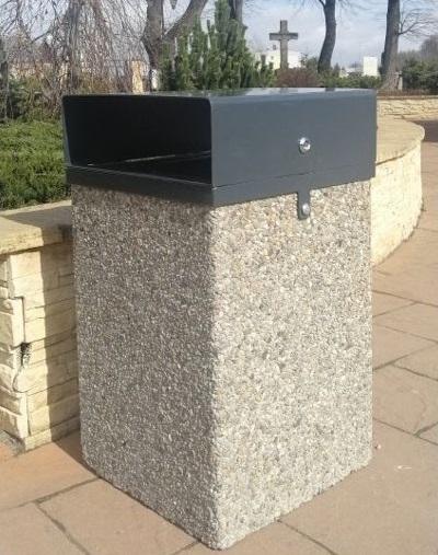 Abfallbehälter aus Beton KB-37