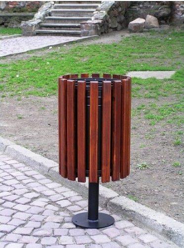 Abfallbehälter aus Holzelementen KO-02a