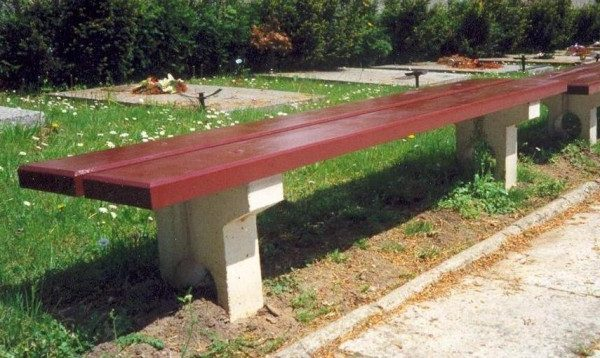 Sitzbank aus Beton L-12a
