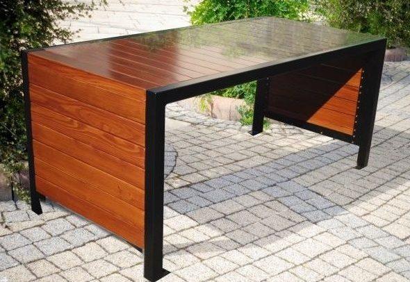 Gartentisch aus Edelstahl S-129