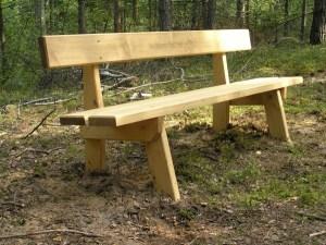 Sitzbank aus Holz L-50