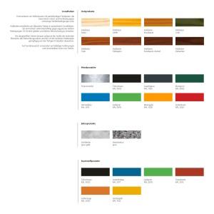 RAL Farbschema