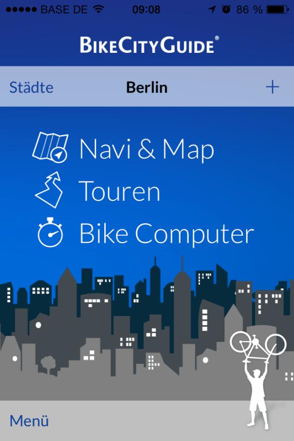 Die Fahrrad-Navigations-App von BikeCityBike