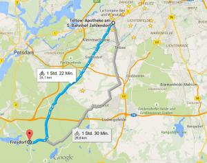 Dir Route nach Fresdorf