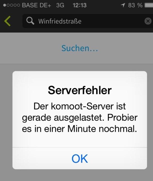 Meldete Überlastung am Vatertag: der Komoot-Server
