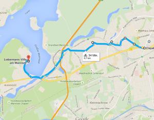 Von Zehlendorf-Mitte nach Wannsee     Google Maps