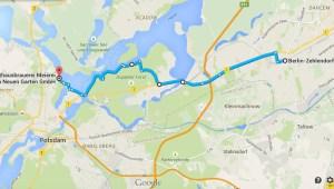 Von Zehlendorf zur Meierei am Neuen See in Potsdam   Google Maps