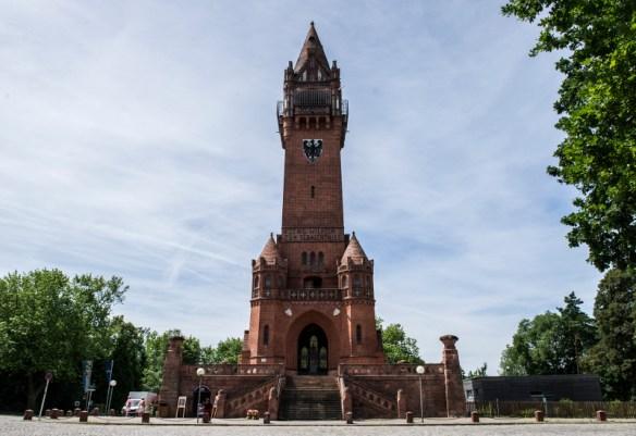 Gipfel der Anstrengung: der Grunewaldturm an der Havelchaussee