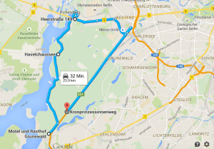 Die Tour über die Havelchaussee und den Kronprinzessinnenweg