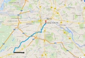 Penderlstrecke vom Südweste in die Mitte Berlins