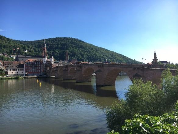 Heidelberg - die alte Brücke und die Altstadt