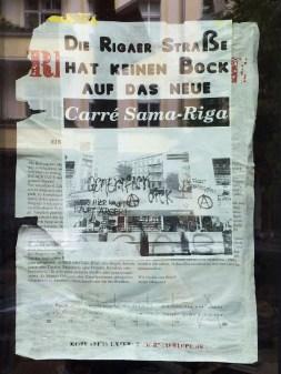 Die Rigaer Straße hat keinen Bock auf das neue Carré Sama-Riga 2