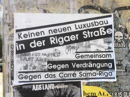 Keinen neuen Luxusbau in der Rigaer Straße