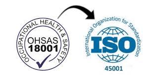 ΤΕΛΟΣ ΤΟΥ OHSAS 18001:2007   ΣΤΙΣ  30/09/2021   ΣΕ ΙΣΧΥ ΜΟΝΟ ΤΟ ISO 45001:2018