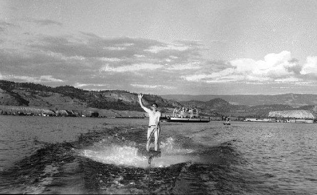 Kelowna. Aquaplaning On Okanagan Lake, 1943.