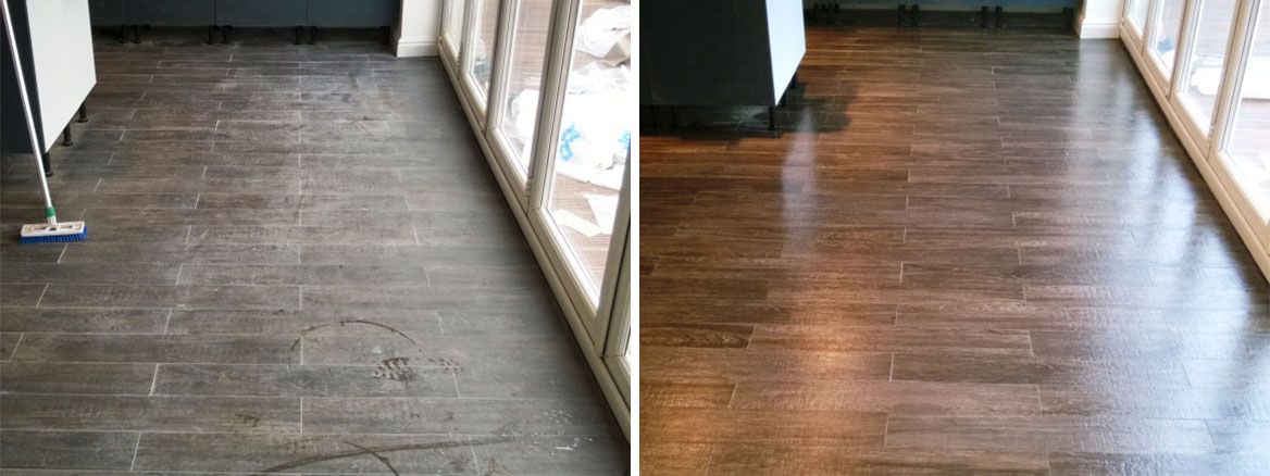 cleaning wood effect porcelain tiles
