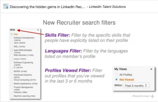 LinkedIn Skills Filter