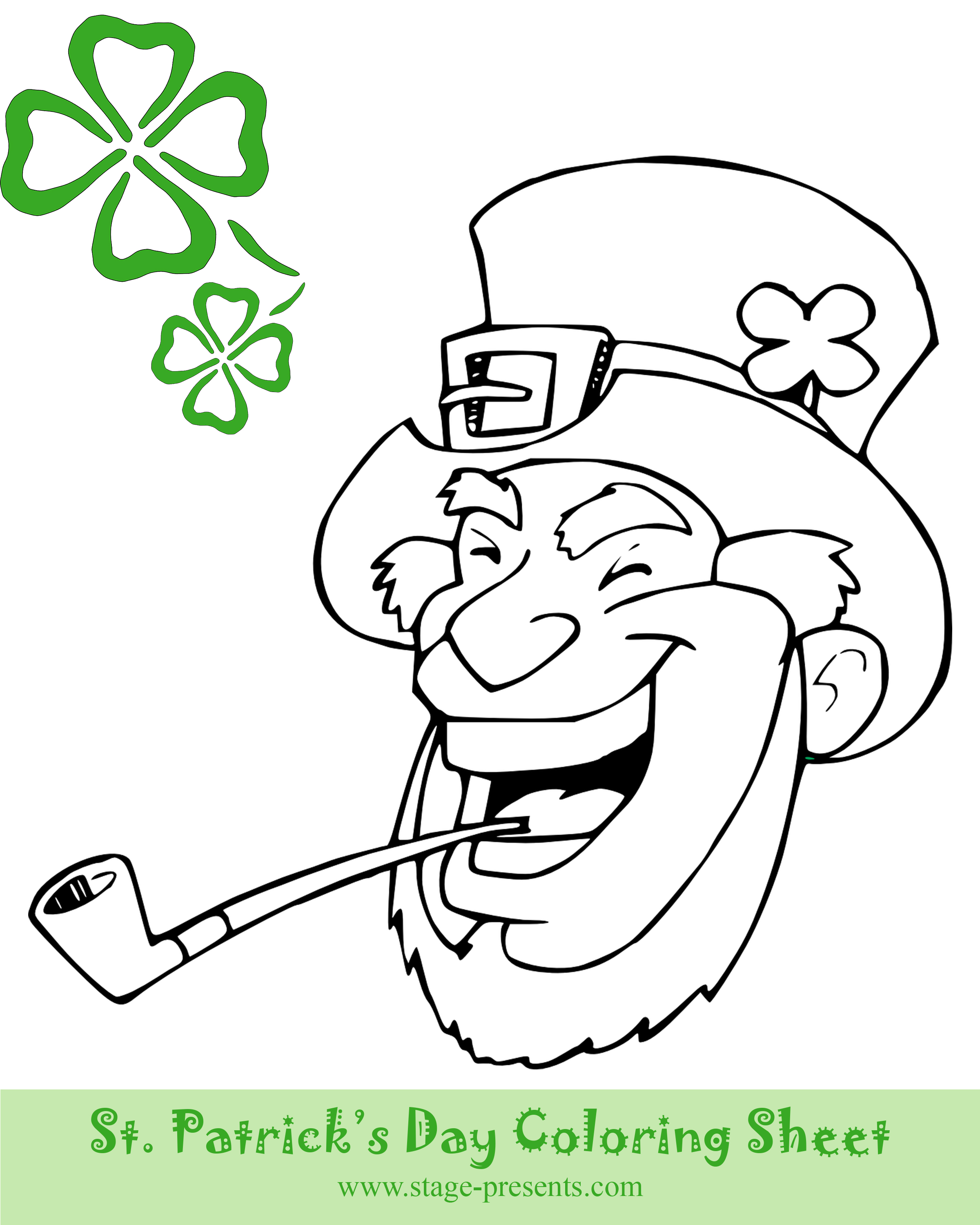 Two Free St Patrick S Day Coloring Sheets