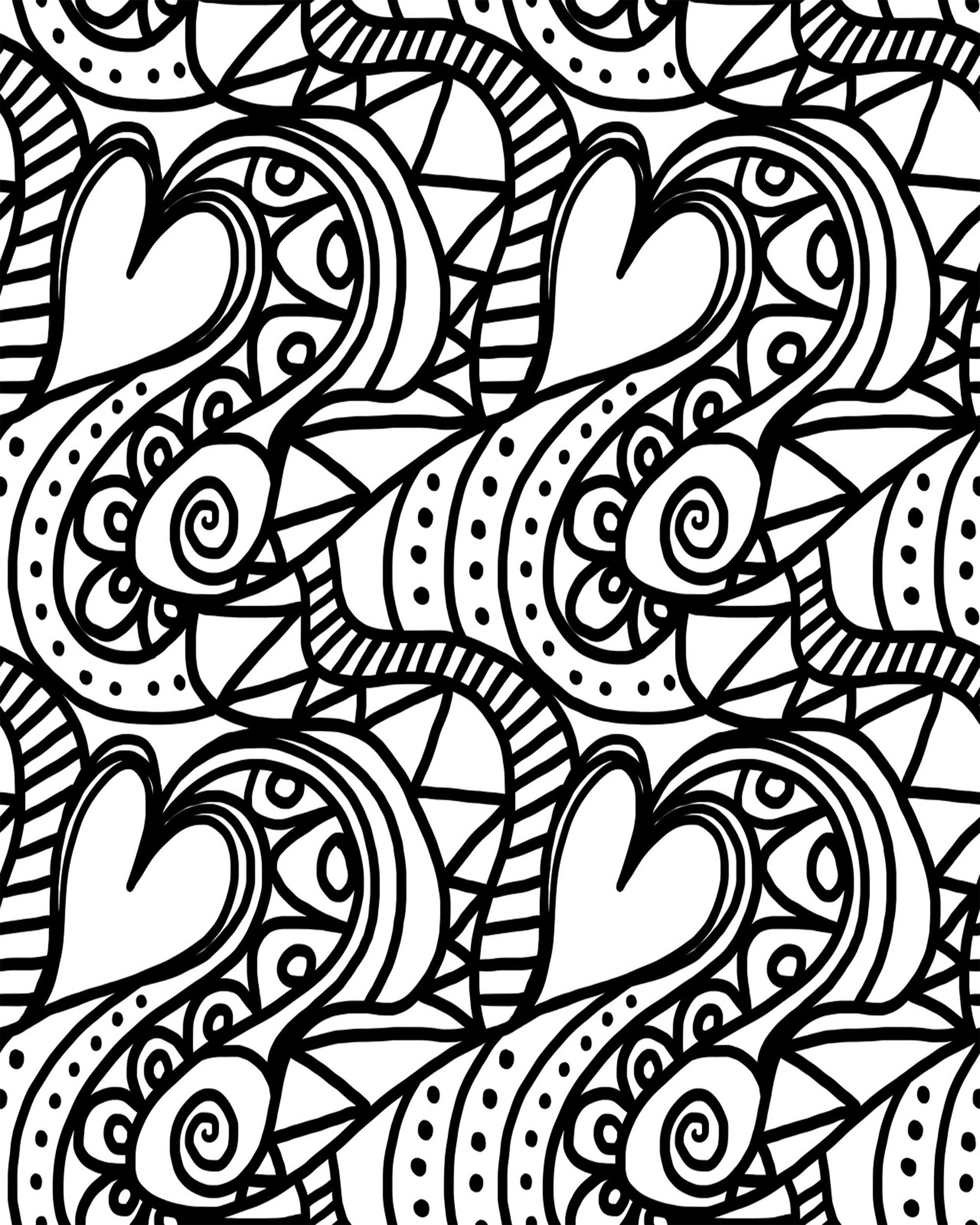Adult Valentine S Day Coloring Sheets