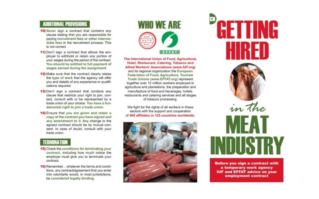 Leaflets to support migrant workers