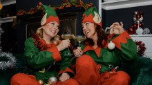 Louise Dearman and Rachel Tucker christmas
