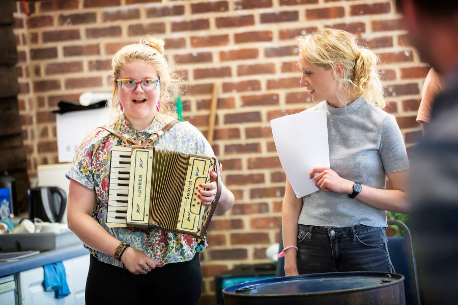 As You Like It Rehearsals: Emma Barclay, Katherine Jack. Picture: Pamela Raith Photography