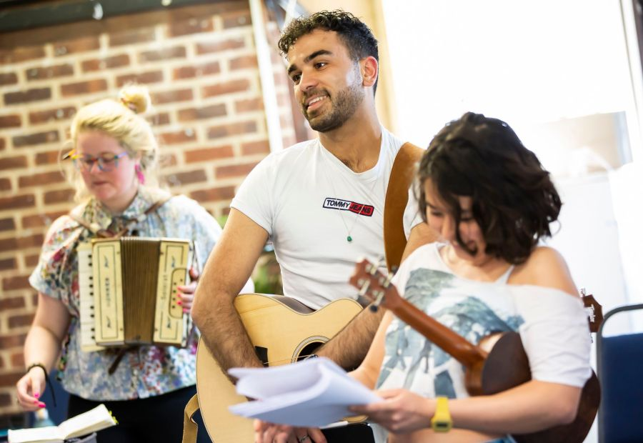 As You Like It Rehearsals: Omar Baroud. Picture: Pamela Raith Photography