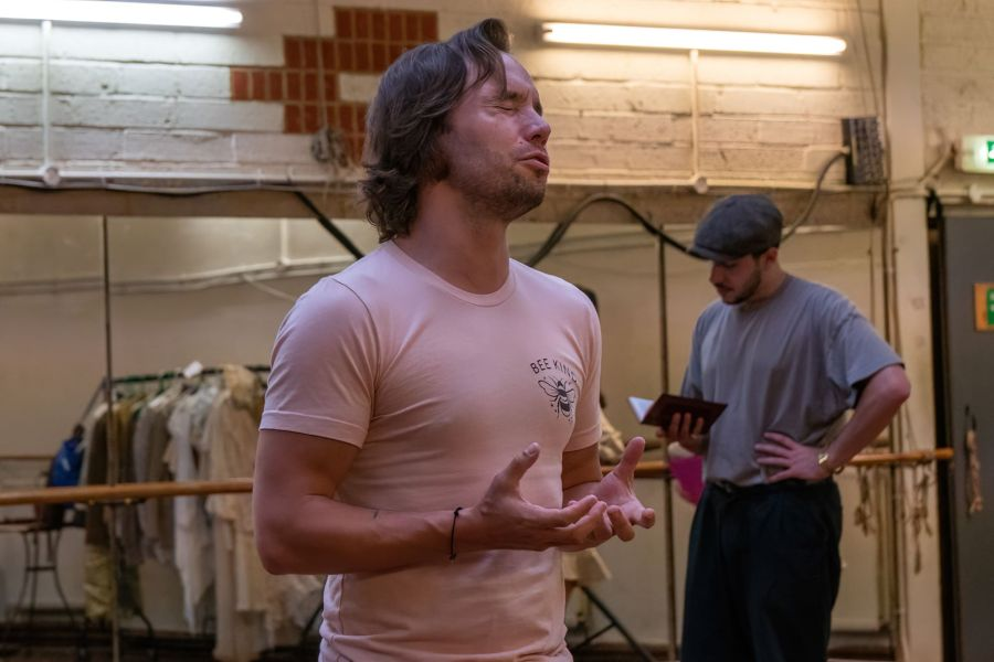 Michael Pickering, Lady Chatterley's Lover rehearsals (credit Bonnie Britain)