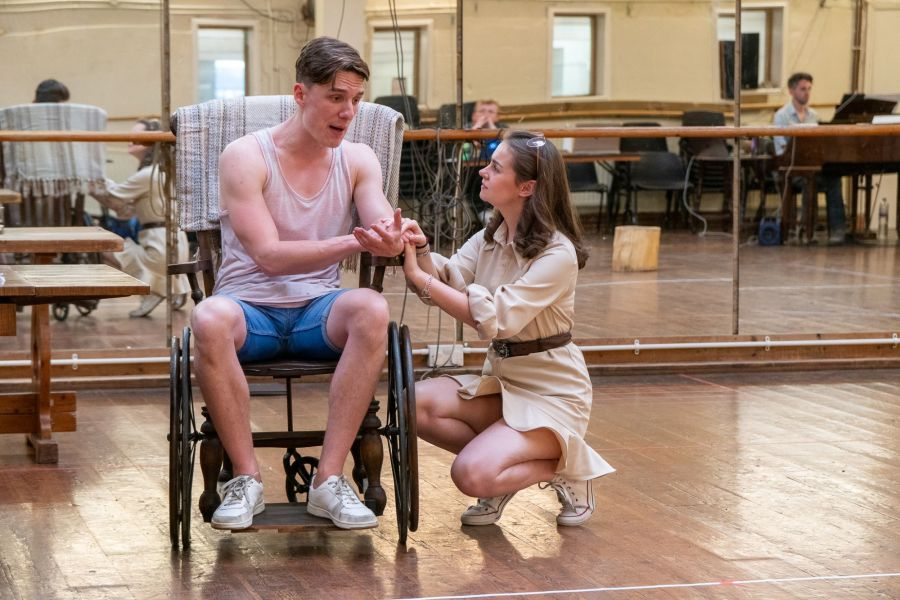 Sam Kipling and Georgia Lennon, Lady Chatterley's Lover rehearsals (credit Bonnie Britain) (2)