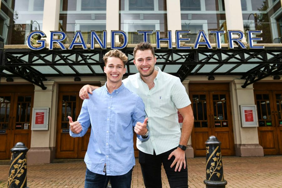 AJ and Curtis Pritchard at Wolverhampton Grand Theatre in Cinderella from 4 December 2021 - Photograph by Alex Styles
