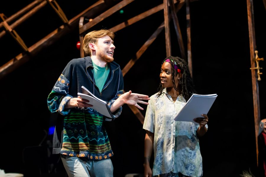 David Haller and Cassandra Hercules in rehearasal for Pinocchio at Greenwich Theatre (credit Lidia Crisafulli)